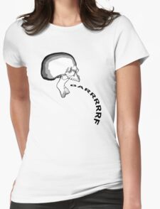 Barfing Skull Womens Fitted T-Shirt