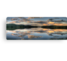 Mirror Image - Narrabeen Lakes, Sydney Australia - The HDR Experience Canvas Print