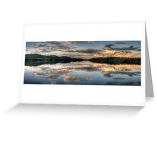 Mirror Image - Narrabeen Lakes, Sydney Australia - The HDR Experience Greeting Card