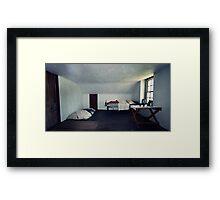 The Boring Bedroom Framed Print