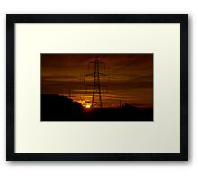 Sunrise over the Culm Valley Framed Print