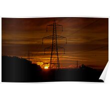 Sunrise over the Culm Valley Poster