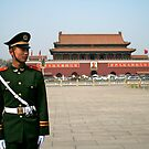 Standing to attention in Tian&#x27;an men square by Alex Tan