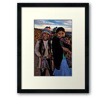 Amantina children Framed Print