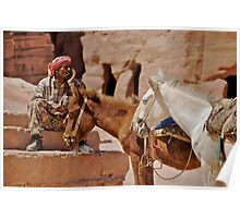 A Bedouin in Petra Poster
