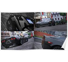 GT5 Corvette ZR1 collage Poster