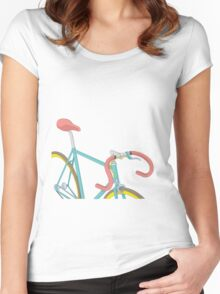 vintage bicycle Women's Fitted Scoop T-Shirt