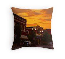 Daybreak on Main Street Throw Pillow