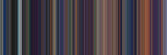 Moviebarcode: The Little Mermaid (1989) [Simplified Colors] by moviebarcode