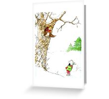 One Snowy Day Greeting Card