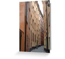 Gamla Stan, Alleyscape Greeting Card