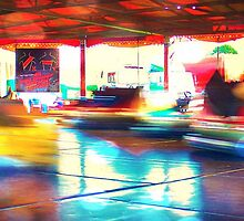 Dodgems at the Lindfield Fun-fair #2 by Matthew Floyd