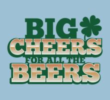 BIG CHEERS FOR ALL THE BEERS! IRISH beer shop design One Piece - Short Sleeve
