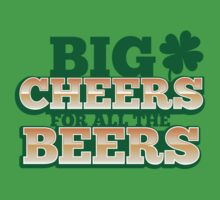 BIG CHEERS FOR ALL THE BEERS! IRISH beer shop design Kids Clothes