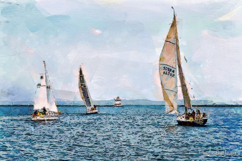 Sailing II - watercolour by PhotosByHealy