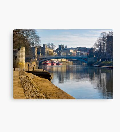 The River Ouse & Lendal Bridge - York Canvas Print