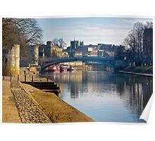 The River Ouse & Lendal Bridge - York Poster