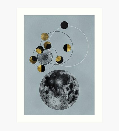 Phases of the Blue Moon Art Print