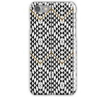 Black white faux gold glitter abstract pattern iPhone Case/Skin