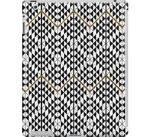Black white faux gold glitter abstract pattern iPad Case/Skin