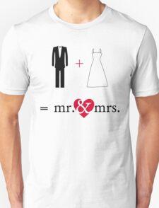 """Mr. & Mrs. """"Do the Math"""" T-Shirt"""