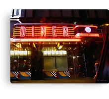 Night Walk Past the Diner Canvas Print