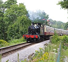 Steam engine 5526 in Devon by Keith Larby