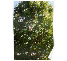 Textured Bubbles Poster