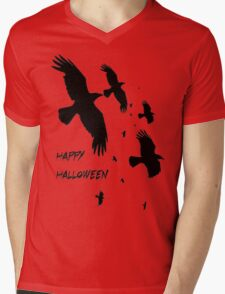 Happy Halloween Murder of Crows Against Sunset T-Shirt