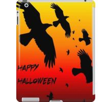 Happy Halloween Murder of Crows Against Sunset iPad Case/Skin