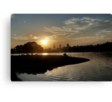 July Sunset Canvas Print