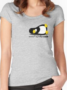 LINUX TUX THE PENGUIN Women's Fitted Scoop T-Shirt