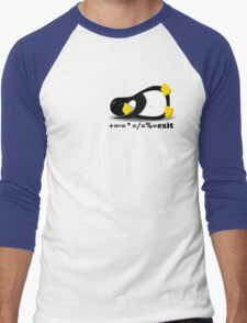 LINUX TUX THE PENGUIN Men's Baseball ¾ T-Shirt