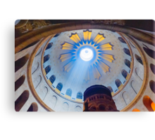 Jerusalem: The Church of the Holy Sepulcher dome. Canvas Print