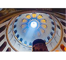 Jerusalem: The Church of the Holy Sepulcher dome. Photographic Print