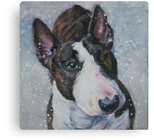Bull Terrier Fine Art Painting Canvas Print