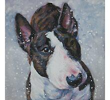 Bull Terrier Fine Art Painting Photographic Print