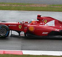 Fernando Alonso - Silverstone 2011 by Nicole Grey