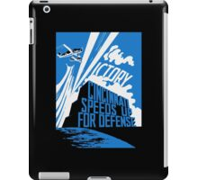 Cincinnati Speeds Up For Defense -- WW2 Poster iPad Case/Skin