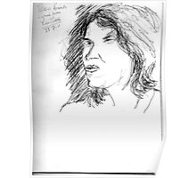 Tracy Emin on YouTube -(250711)- Biro pen/black ink Poster