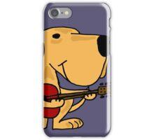 Funny Yellow Labrador Retriever Playing Guitar iPhone Case/Skin