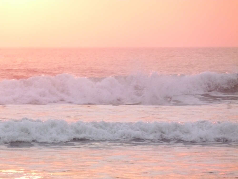 WAVES IN THE PINK by tinaskyscape