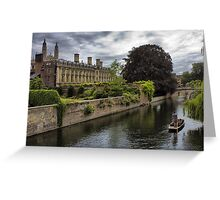 The Backs, Clare and Kings College Cambridge Greeting Card