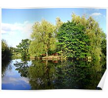 Reflection by the pond  Poster
