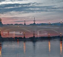 Dusk Over St, George Street Bridge Newport South Wales. by Andy Nawroski