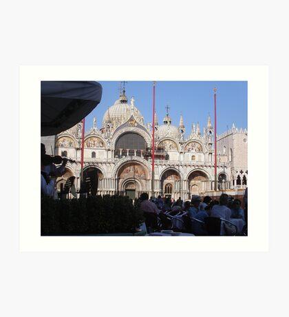 VENEZIA E LA SUA PIAZZA  - SAN.MARCO - ITALIA-EUROPA- 3000 VISUALIZZAZ.GIUGNO 2013 - VETRINA RB EXPLORE 26 AGOSTO 2011 Art Print