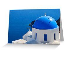 Oia Village, Santorini Greeting Card