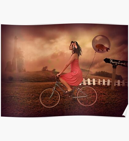 Traveling To Fairy Land Poster