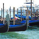 Gondolas, Venice by inglesina