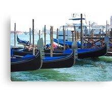 Gondolas, Venice Canvas Print